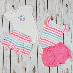 Baby Girls Summer Outfits, Size 9-12 Months